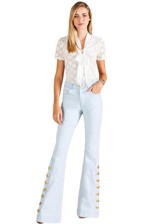 8f480a39c Calça Jeans Delave Botões