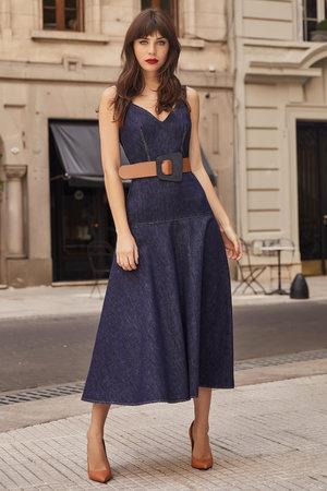 Vestido Midi Jeans