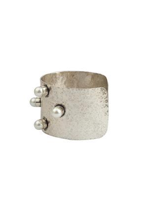 Bracelete Martelado Pérolas