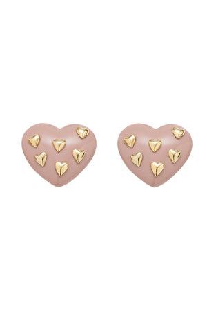 Brinco Coração Tachas - Pressão