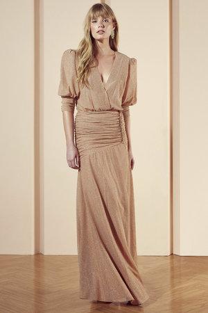 Vestido Longo Pallete Silk Lurex