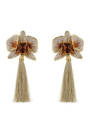 Brinco New Orquídea Tassel - Nadia Gimenes por Lalá Noleto