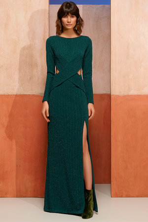 Vestido Longo Lurex Glam
