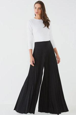 Calça Pantalona Plissê