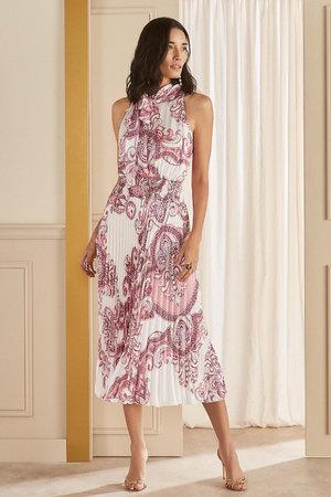 Vestido Midi Plisse Summer Cashmere
