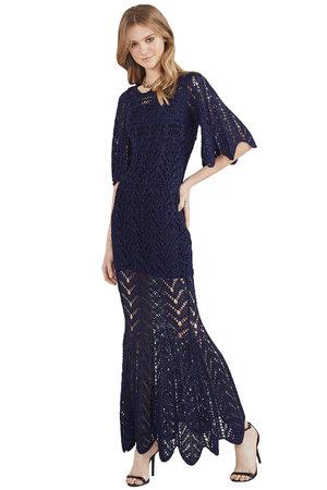 Vestido Longo Tricot Sereia