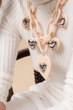 Colar Coração Double