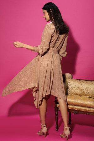 Vestido Midi Silk Lurex