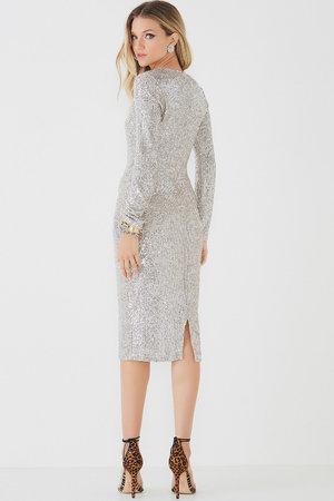 Vestido Midi Silver Shine