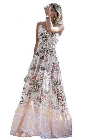 Vestido Longo Floral Dandynha