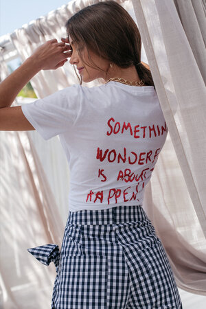 T-Shirt Something Wonderful is About to Happen