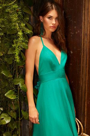 Vestido Longo Color Block