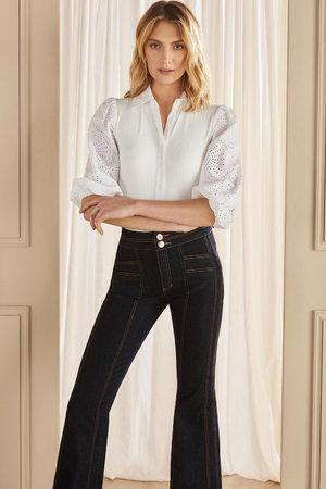 Calça Jeans Recortes