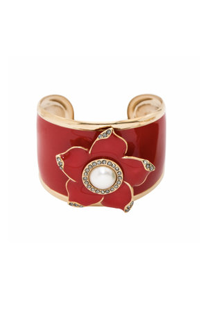 Bracelete Flor Esmaltada