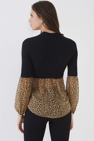 Blusa Mix Leopard