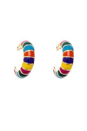 Argola Rainbow - Collab Maria Braz para Rosana Bernardes