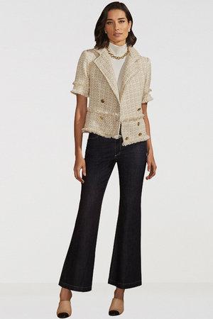 Casaqueto Blazer Tweed Gold
