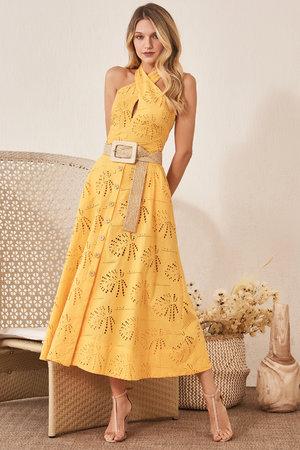 Vestido Midi Laise Amarelo