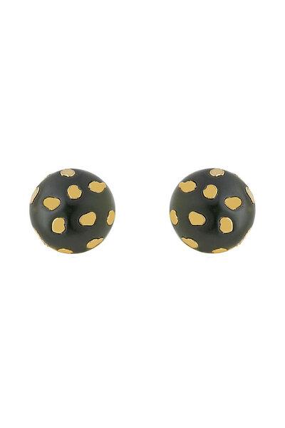 Brinco Botão Small Spot Verde