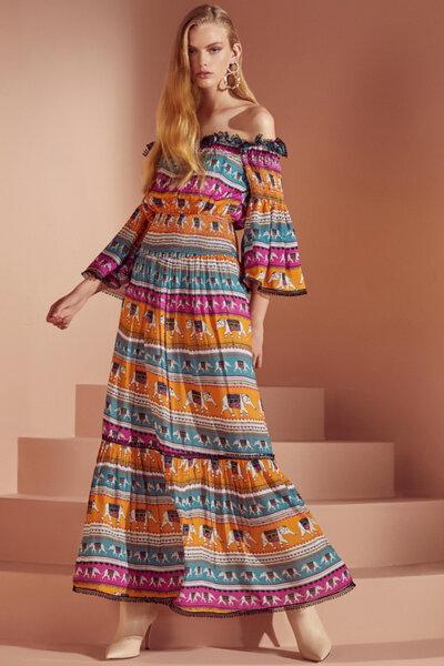 Vestido Estampa Bangladesh