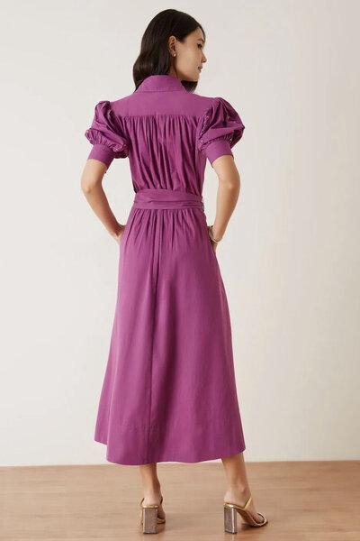 Vestido Midi Detalhes Atados