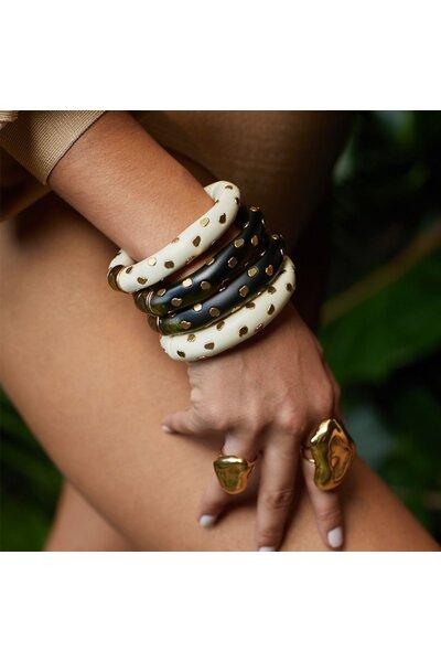 Bracelete Mola Resina Small Spot Marfim