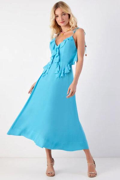 Vestido Midi Rayon Babadinhos