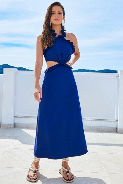 Vestido Tricoline Babadinhos
