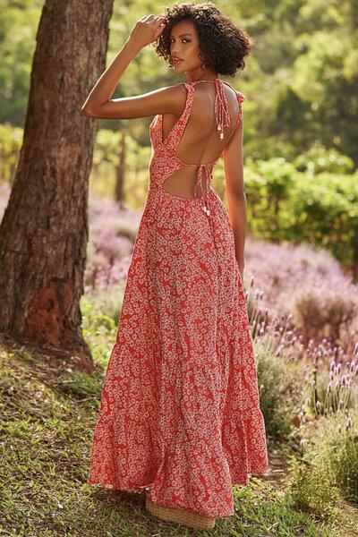 Vestido Tricoline Estampado