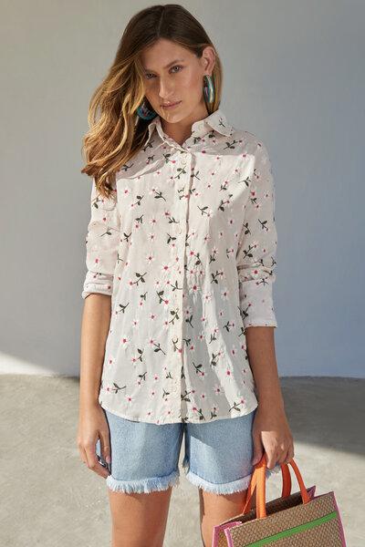 Camisa Floral Bordada