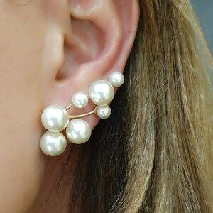 EAR CUFF PODEROSO COM 7 PEROLAS