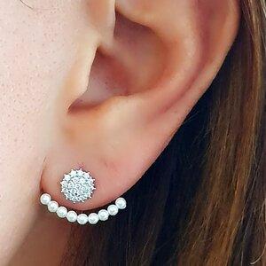 EAR JACKET COM MINI PEROLAS