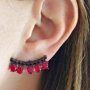 BRINCO EAR CUFF EM RUBI FUSION