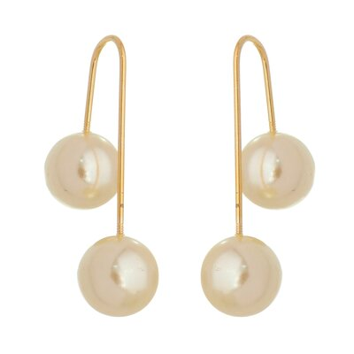 Brinco Twins Pearls