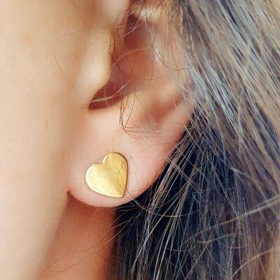 Brinco Gold Heart