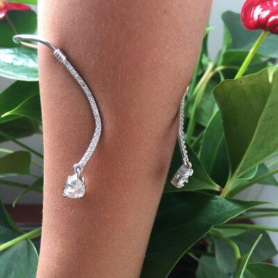 Bracelete com Duas Gotas de Zirconias