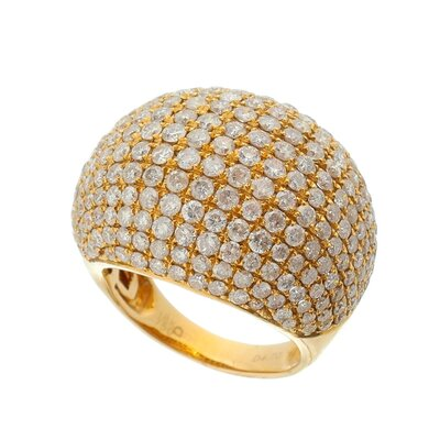 Anel Ouro Rosê Diamantes 4,70ct