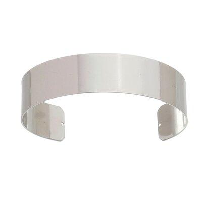 Bracelete Liso Prateado