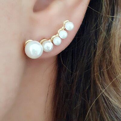 Ear Cuff Perolas Degradê