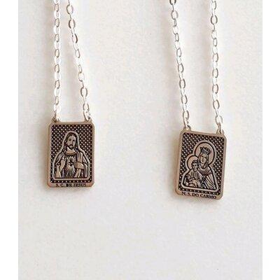 Escapulário Prata 925 com Jesus