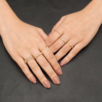 Anel Ouro Amarelo Mão de Deus
