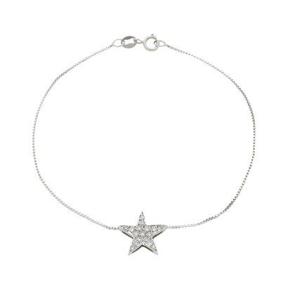 Pulseira Ouro Branco Estrela