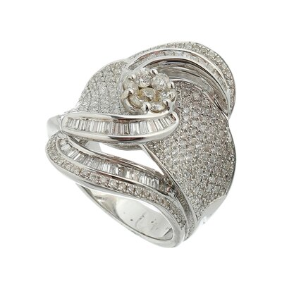 Anel Ouro Branco com 334 Diamantes