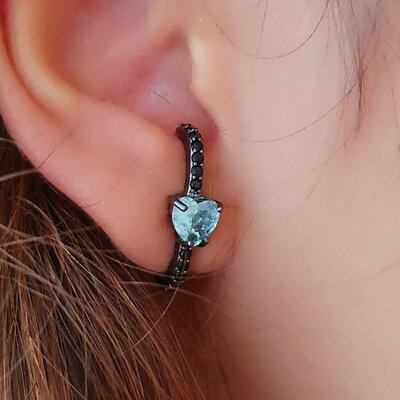 Brinco Ear Hook Coração Paraiba