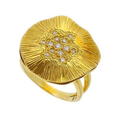 Anel Ouro Amarelo Vitoria Regia