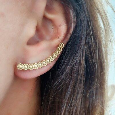 brinco Ear Cuff de Florzinhas
