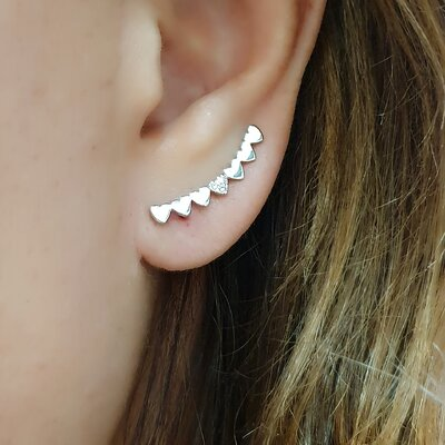 Brinco Ear Cuff Delicate Heart