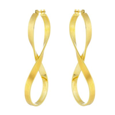 Argola Infinito Ouro Amarelo 18k