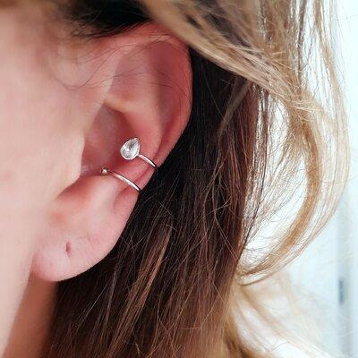 Piercing com Gota Zirconia