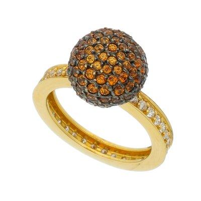 Anel Ouro Amarelo Sperssatita e Diamantes